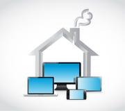 House technology and electronics. illustration Royalty Free Stock Photos
