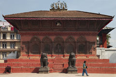 House Temple - Durbar Square - Kathmandu - Nepal Stock Photo