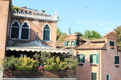 House with terrace in Venice Stock Photography