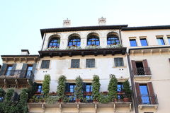 House with terrace in Verona Royalty Free Stock Image