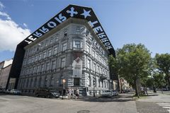 House of terror museum in Budapest. The house of terror museum building in Budapest, Hurngary stock images