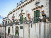 House in th old town of Syracuse, Sicily, Italy Royalty Free Stock Photos