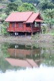 House Thailand style in forest on mountain Stock Photo