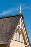House with thatch roof Stock Photos