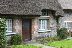 House with a thatched roof. Adare Ireland, - July 20, 2016: House with a thatched roof, Adare, County Limerick, Ireland Royalty Free Stock Photo