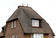 House with a thatched roof Germany.. Stock Photography