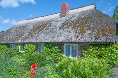 House with thatched roof,Ruegen Island Stock Photography
