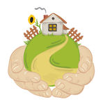 House in their hands Stock Photography