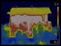 House Thermogram Royalty Free Stock Photos