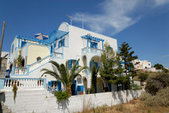 House in Thira, Greece Royalty Free Stock Images