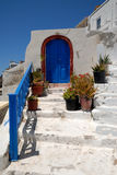 House in Thira, Greece Royalty Free Stock Photo