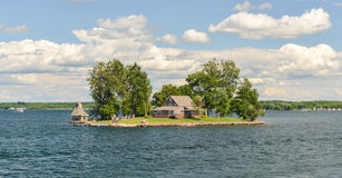House on the Thousand Islands Royalty Free Stock Photos