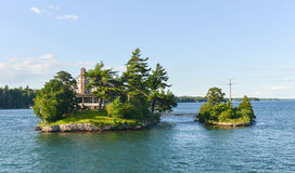House on the Thousand Islands Stock Image