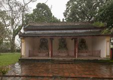 House with three Statues, Chua Thien Mu Pagoda in Hue, Vietnam. Pictured is the house with three statues at the Chua Thien Mu Pagoda in Hue, Vietnam. It is also stock photography