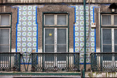 House with Tiled Facade in Lisbon Royalty Free Stock Images