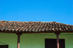 House with tiled roof Stock Images