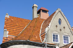 House with tiled roof Royalty Free Stock Image