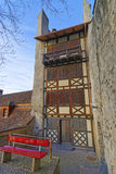 House with Timber Framing in the Old Town of Thun Royalty Free Stock Photo