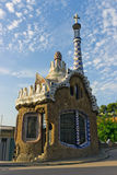 House to administrations park. Building to administrations park Guell in Barcelona - Spain stock photo