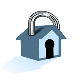 House to lock. Home lock Royalty Free Stock Images