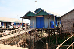 House at Tonle Sap Lake in Cambodia Royalty Free Stock Photos