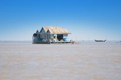 House on Tonle Sap lake. Cambodia Stock Images
