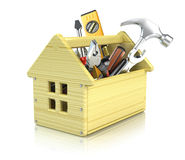 House toolbox. Isolated on white Stock Photography