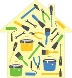 House tools. (set of icons indoor). Vector Illustration Royalty Free Stock Images