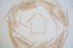 House of toothpicks Stock Photo