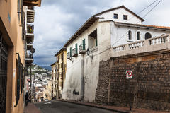 House on top of the old Quito Royalty Free Stock Photography