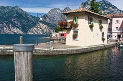 House in torbole on the lago di garda Stock Photo