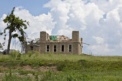 House after tornado damage Stock Images