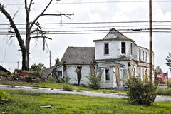 House after tornado damage Royalty Free Stock Photography