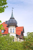 House with tower in bavaria Royalty Free Stock Photo