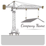 House tower crane icon Vector illustration Abstract background Stock Image