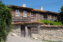 House in town of Nessebar, Bulgaria Stock Photo