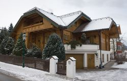 House in the town of Schladming, Austria Stock Photography