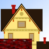 House in town. Royalty Free Stock Photos