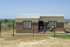 House in a township. In Louis Trichard, South Africa stock images