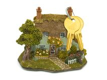 House (toy) and keys Royalty Free Stock Photo