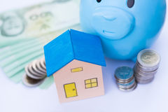 House toy and money stock photography