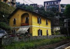 House by the tracks Royalty Free Stock Photography