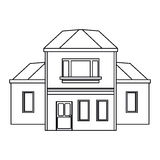 House traditional detailed modernn outline Royalty Free Stock Photography