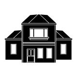 House traditional detailed modernn pictogram Royalty Free Stock Images