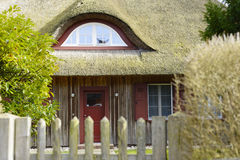 A house with traditional reet roof Royalty Free Stock Images