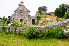 House in traditional style in Brittany Stock Photo
