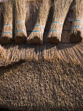 House with traditional thatched straw roof Stock Photography