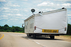 House Trailer on Interstate Highway Royalty Free Stock Photo