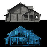 House transparent blue and black  Royalty Free Stock Photography