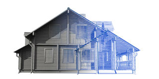House - transparent blue and gray isolated Stock Photos